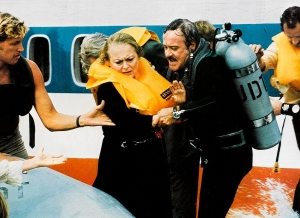 Lots of water--too much water--and not enough substance plagued her appearance in Airport '77.