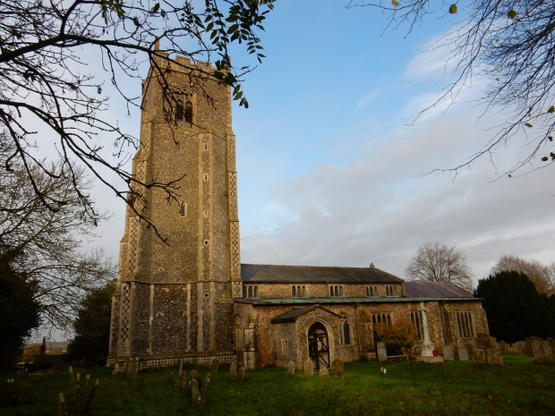 The tower of All Saints Tibenham Church was a welcome sight that let pilots know they were home.