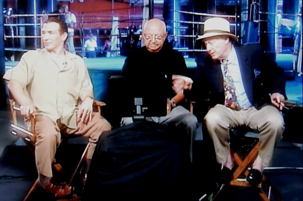 "Ray ""Boom-Boom"" Mancini, Angelo Dundee, and Bert Randolph Sugar critique the climactic fight scene from Gentleman Jim."