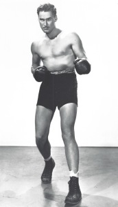 Flynn in the 1937 star vehicle The Perfect Specimen, which included a boxing scene.
