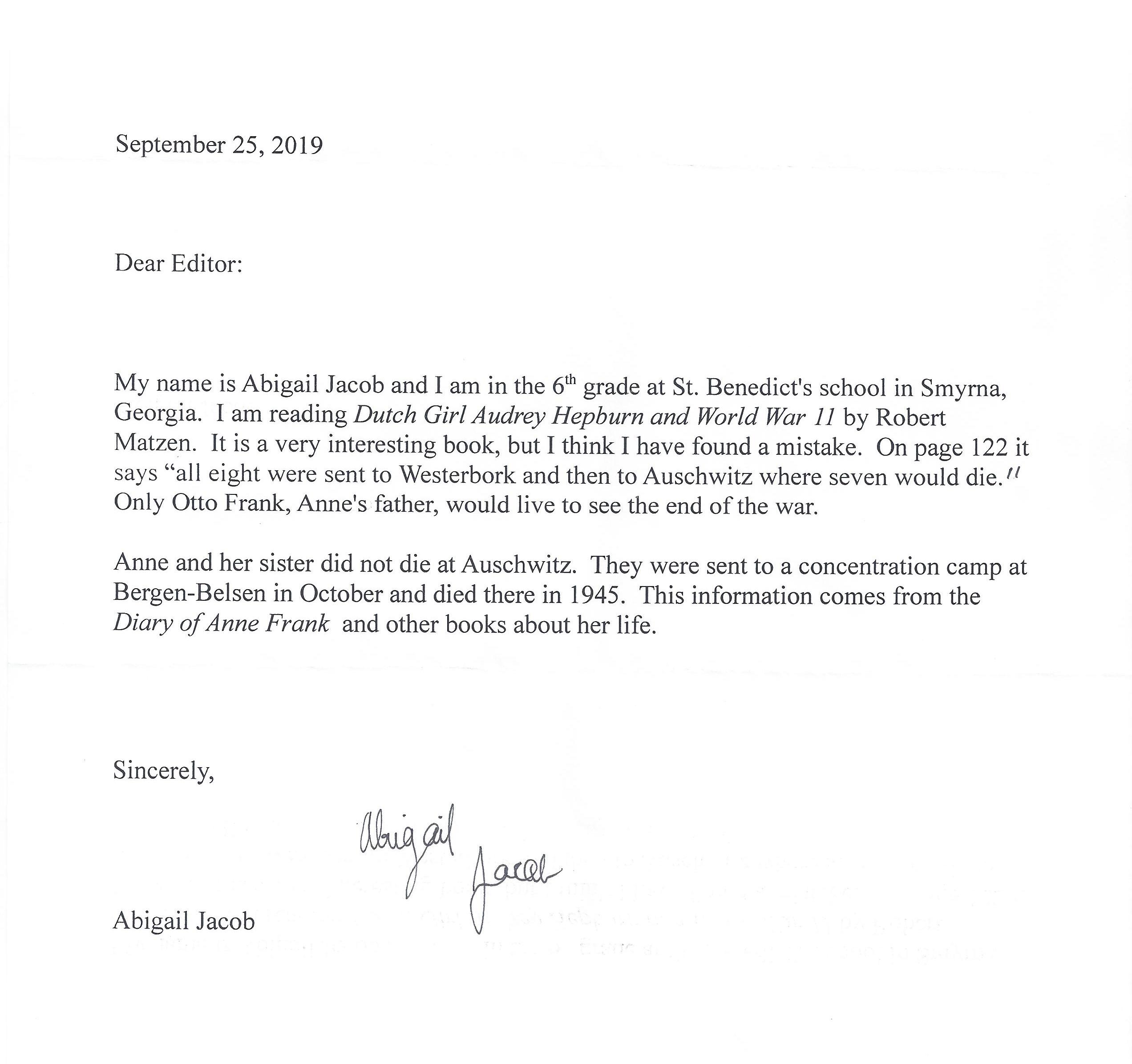 Abigail-letter