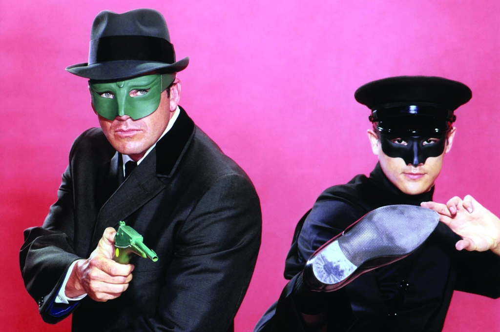 Image shows Van Williams as the Green Hornet and Bruce Lee as Kato.